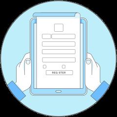Register user icon